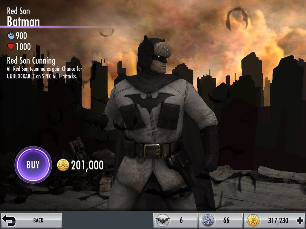 injustice mobile 20 red son batman challenge stage