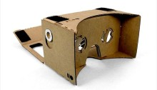 Who needs a plastic headset when you have a chunk of cardboard?