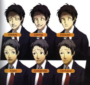 Adachi has a real range of emotions, ranging from blissful innocence to true insanity