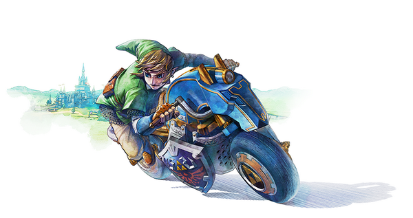 Link looking rather fine in Mario Kart 8